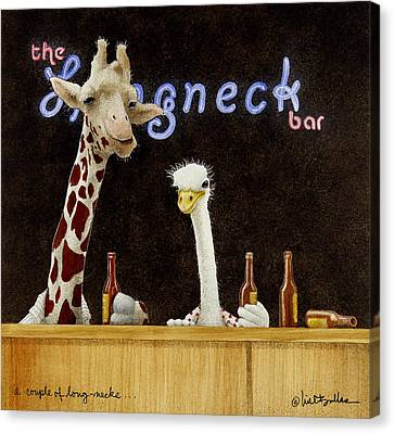 A Couple Of Long-necks... Canvas Print