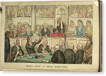 A Courtroom Scene Canvas Print