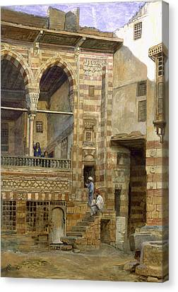 A Courtyard In Cairo Canvas Print by Frank Dillon