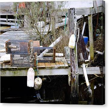 A Crab Fishermans Still Life Canvas Print