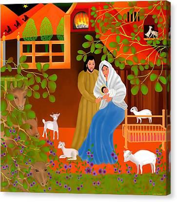 A Cradle In Bethlehem Canvas Print by Latha Gokuldas Panicker