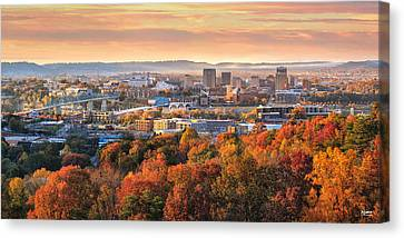 A Crisp Fall Morning In Chattanooga  Canvas Print by Steven Llorca