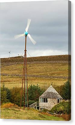 A Croft Powered By Wind And Solar Canvas Print