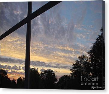 A Cross The Sky Canvas Print by Lyric Lucas