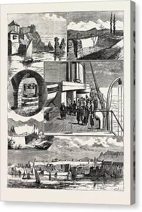 A Cruise Off The Coast Of Karamanili, Asia Minor 1 Canvas Print by English School