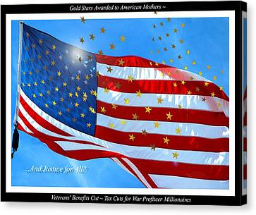 Gold Star Mother Canvas Print - A Cynical View Of War Editorial Comment by A Gurmankin