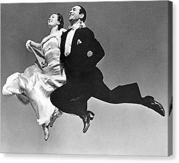 A Dance Team Does The Rhumba Canvas Print by Underwood Archives