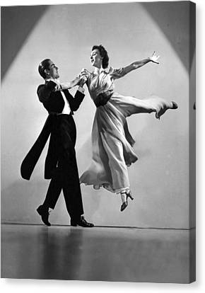 A Dance Team On Stage Canvas Print
