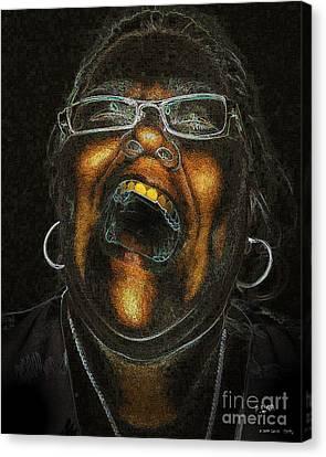 A Dark Laugh Canvas Print