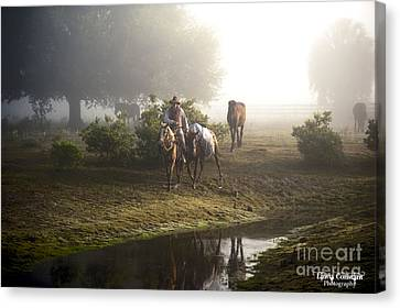 Canvas Print featuring the photograph A Day At Dry Creek by Linda Constant