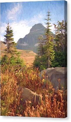 A Day At Glacier Canvas Print