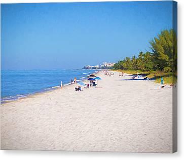 A Day At Naples Beach Canvas Print