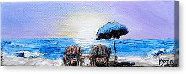 A Day At The Beach Canvas Print by Melissa Torres
