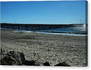 A Day At The Beach Canvas Print by Michael Gordon