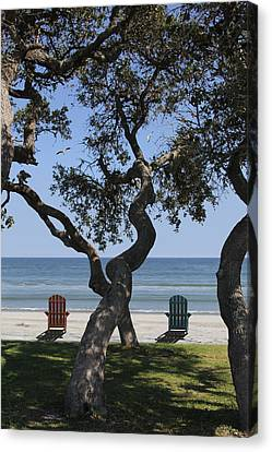 A Day At The Beach Canvas Print by Mike McGlothlen