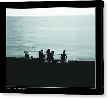 A Day At The Beach Canvas Print by Pedro L Gili