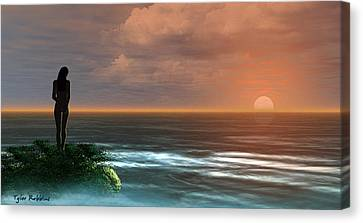A Day Ends Canvas Print