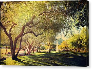 Benches Canvas Print - A Day For Dreaming by Laurie Search
