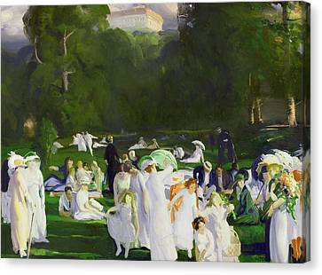 A Day In June Canvas Print by George Wesley Bellows