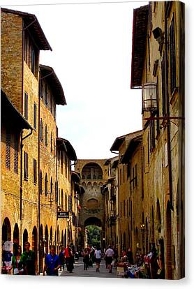 A Day In Sienna Italy Canvas Print