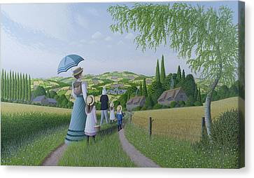 A Day In The Country, 1996 Canvas Print
