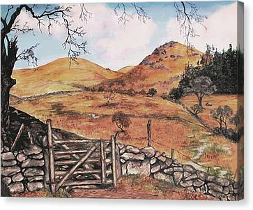 Canvas Print featuring the painting A Day In The Country by Sophia Schmierer
