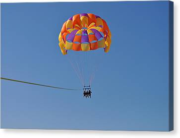 A Day In The Sky Canvas Print by Amanda Just