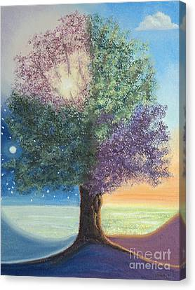A Day In The Tree Of Life Canvas Print by Stanza Widen