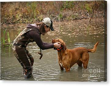 A Day Out Duck Hunting Canvas Print by Suzi Nelson