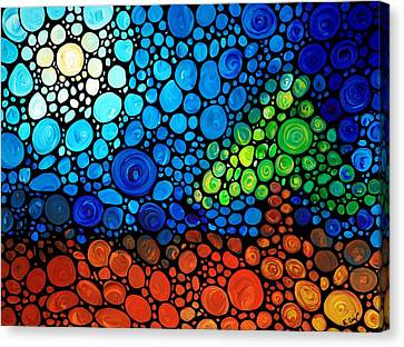 A Day To Remember - Mosaic Landscape By Sharon Cummings Canvas Print by Sharon Cummings