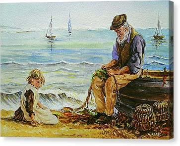 A Day With Grandad Canvas Print by Andrew Read
