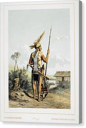 A Dayak Canvas Print by British Library