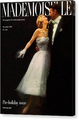 A Debutante In A Ballgown By Carolyn Fashion Canvas Print by Stephen Colhoun