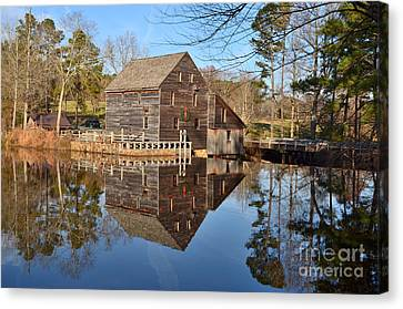 Canvas Print featuring the photograph A December Reflection by Bob Sample