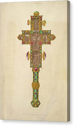 A Decorated Cross Canvas Print by British Library