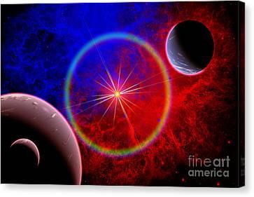 A Distant Alien Star System Canvas Print by Mark Stevenson