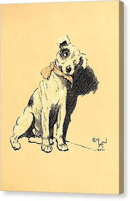 A Dog Day 1902-b Canvas Print by D and I  Printing