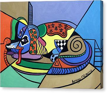A Dog Named Picasso Canvas Print by Anthony Falbo