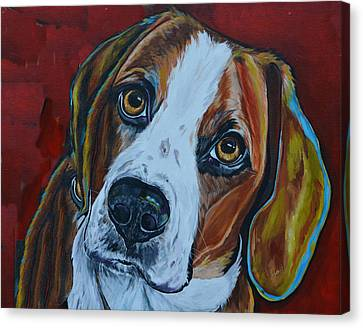 A Dogs World Canvas Print by Patti Schermerhorn