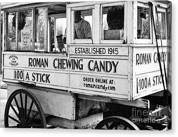 A Dollar A Stick Roman Chewing Candy In Bw Canvas Print
