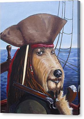 A Doodle On The High Seas Canvas Print by Diane Daigle
