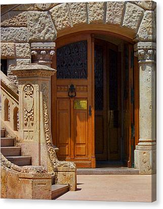 A Door In Monaco Canvas Print by Christine Burdine