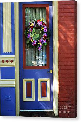 Panel Door Canvas Print - A Door Of Many Colors by Mel Steinhauer