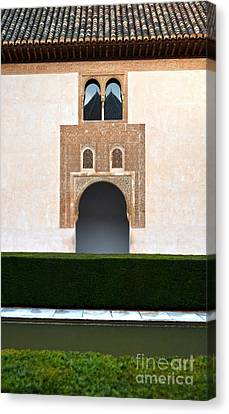Alhambra Canvas Print - A Door On The Court Of The Myrtles by RicardMN Photography
