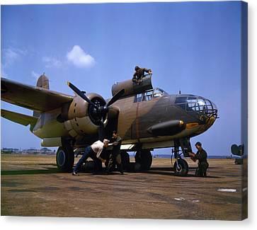 A Douglas A-20c-bo Havoc 1942 Canvas Print by Celestial Images