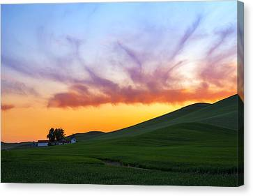 A Dragon's Sunset Canvas Print by Ryan Manuel