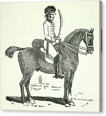 A Dragoon Canvas Print by British Library