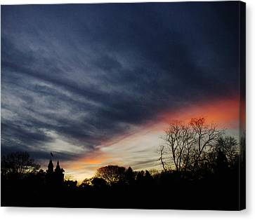 A Dramatic End Of The Day Canvas Print by Cornelis Verwaal