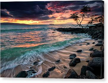 A Dramatic Sky At Sunset Canvas Print