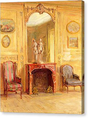 A Drawing Room Canvas Print by Walter Gay